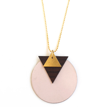 Memphis formica necklace #11