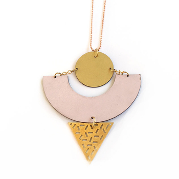 Memphis formica necklace #13