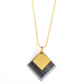 Memphis formica necklace #5