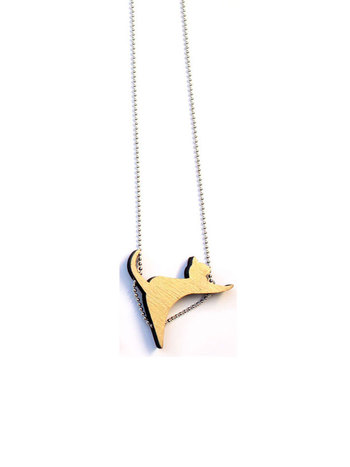Tiny gold CatWalk Necklace