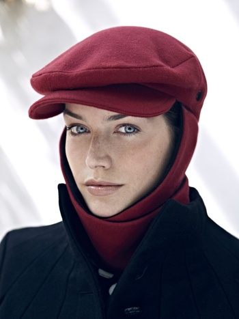 Livvy Echapeau Red Hat & Scarf Combination