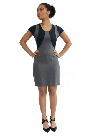 GREY CIRCLES DRESS