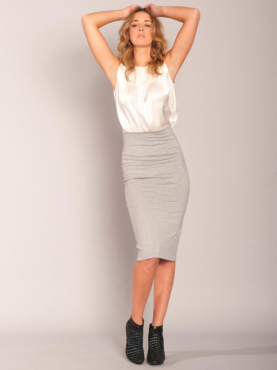 licht grijze rok