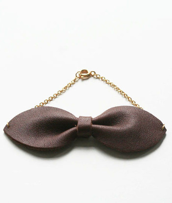 Cow Bow Bracelet- Brown